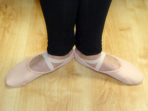 Ballet shoes for Ballet Fit classes.