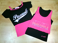Pineapple dancewear for summer 2014, lovely colours, fab designs and we know adults will love the jazz pants and tops too. Great for disco dancers, party clothes for girls and wearing at home to put on a show, once it's on, it's not coming off.