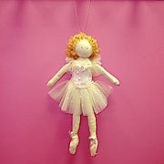 Ballerina dolls for dancers and little girls alike can be hung up in a girls bedroom.