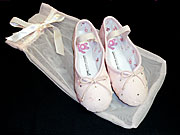 Very special sparkly ballet shoes make wonderful Christmas gifts.