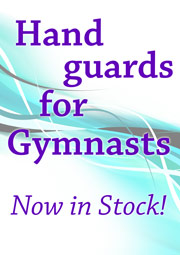 Hand guards (also known as palm guards) for Gymnasts and gymnastic classes are now in stock at Dancers Boutique, phone 01494727211 to order yours today.