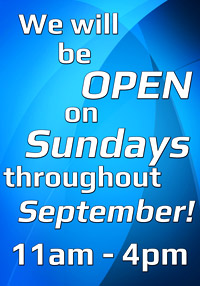 Sunday opening dance shop. Dancers Boutique will be open  on Sundays throughout September.