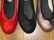 Childrens party shoes for the party season at Dancers Boutique.