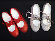 silver tap shoes, glittery tap shoes, dorothy tap shoes and red sparkle tap shoes stocked for children for their tap dancing class