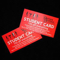 Student card for Dancers. No discount code needed, for full time vocational dance students.