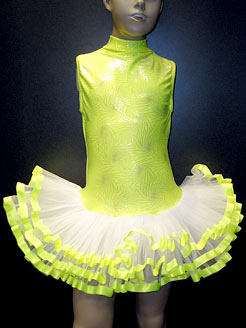 fluuorescent yellow sparkle tutu