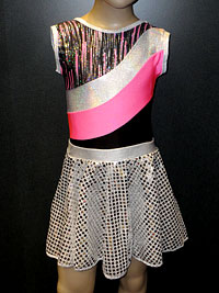 Disco Frestyle sets, rock and roll outfit, sequin skirt.