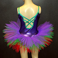 Purple metallic tutu.