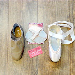 Ballet and pointe shoes for diploma and degree dance courses.